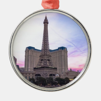 Sunset Paris Las Vegas Tour Eiffel Fake Christmas Ornament