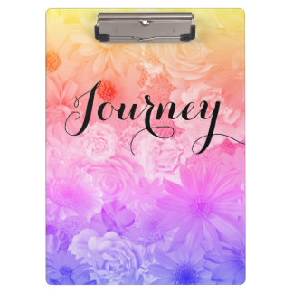Sunset Pastel Floral Flowers Boho Journey Clipboard