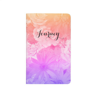 Sunset Pastel Floral Flowers Boho Journey Journal
