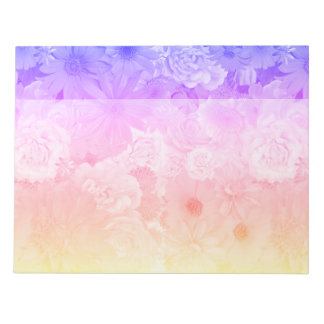 Sunset Pastel Floral Flowers Boho Wedding Notepad
