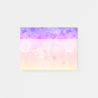 Sunset Pastel Floral Flowers Boho Wedding Post-it Notes