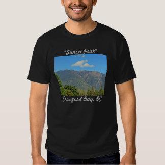 Sunset Peak, Crawford Bay Mens Tshirt