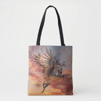 Sunset Pegasus All-Over-Print Tote Bag