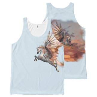 Sunset Pegasus All-Over Printed Unisex, pick color All-Over Print Tank Top