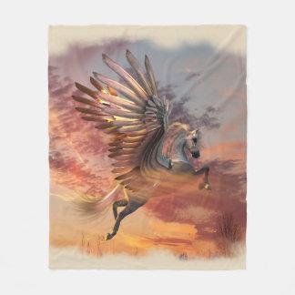 Sunset Pegasus Fleece Blanket, Med, pick color