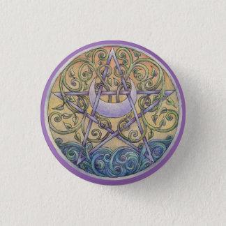 Sunset Pentacle Button Pin