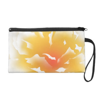 Sunset Peony Wristlet Clutches