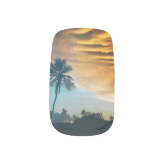 Sunset Photo Nail Art Designs