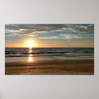 "Sunset Photo Poster Custom Size (42.48"" x 24.32"")"