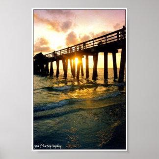 Sunset Pier Poster