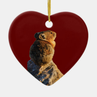 sunset pika christmas ornament