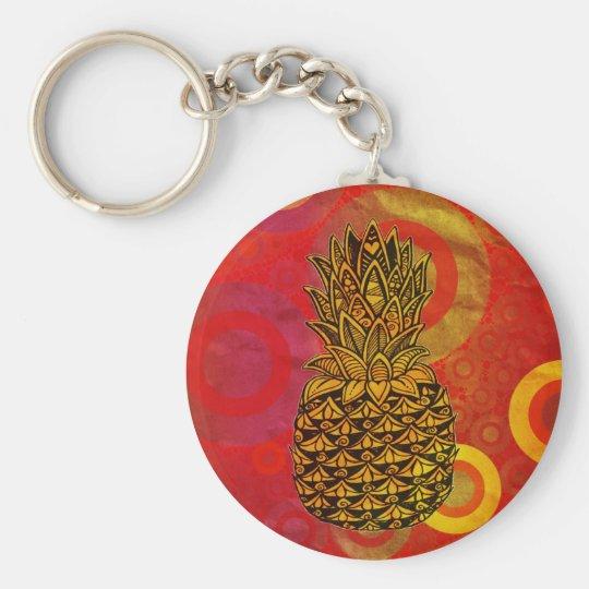 Sunset Pineapple Key Ring