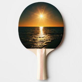 Sunset Ping Pong Paddle