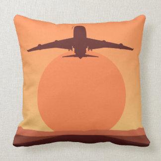 Sunset plane illustration cushions