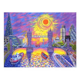 Sunset:Pool Of London 2013 Postcard