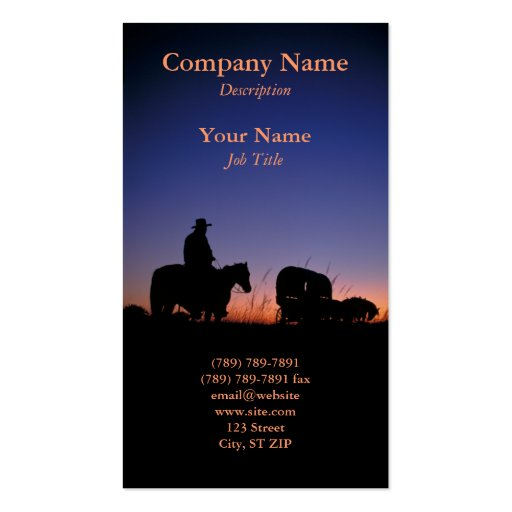 Sunset Profile Card Pack Of Standard Business Cards