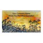 'Sunset' Profile Card Business Card Template