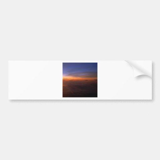 Sunset Purple Atmosphere Bumper Stickers