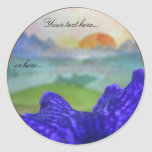 Sunset Rainbow Pictures Wedding Stickers Labels