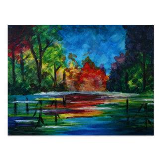 Sunset Rainbow Postcard