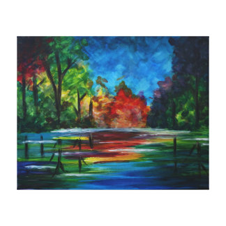 Sunset Rainbow Stretched Canvas Prints