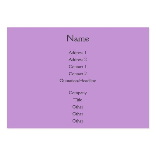 Sunset Rays Lilac Business Card Template