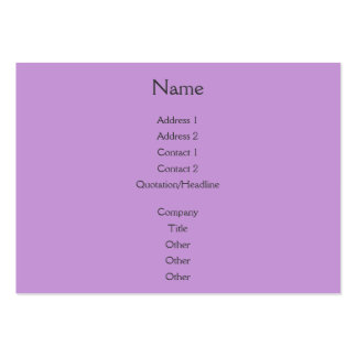 Sunset Rays Lilac Pack Of Chubby Business Cards