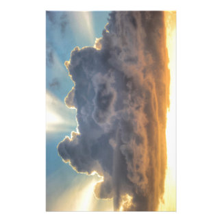 Sunset Rays of Light through Stormy Clouds Customised Stationery