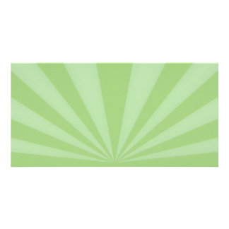 Sunset Rays Springtime Green Personalized Photo Card