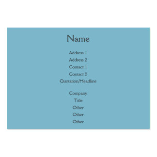 Sunset Rays Teal Blue Pack Of Chubby Business Cards