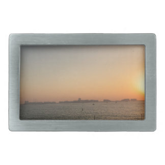 sunset rectangular belt buckle