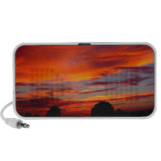 Sunset Red Humour iPhone Speaker