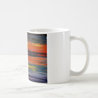 Sunset reflected on the ocean surface coffee mug