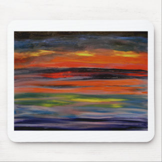 Sunset reflected on the ocean surface mouse mat