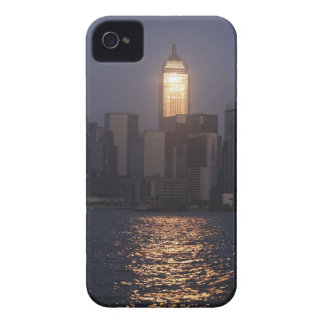 Sunset reflection on Central Plaza, WanChai, iPhone 4 Case