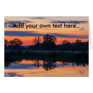 Sunset reflections cards