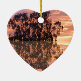 Sunset reflections christmas ornament