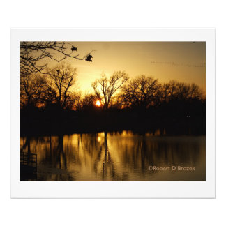 Sunset Reflections Sterling Lake Photo Enlargement