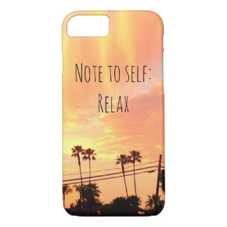 Sunset Relax iPhone Case