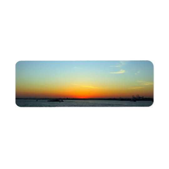 Sunset Return Address Label