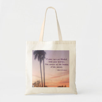Sunset Reusable Tote Budget Tote Bag