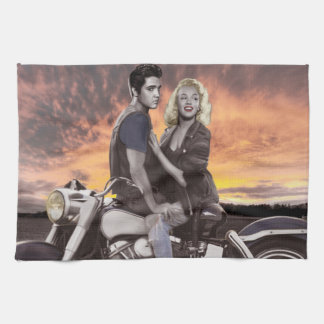 Sunset Ride 2 Tea Towel