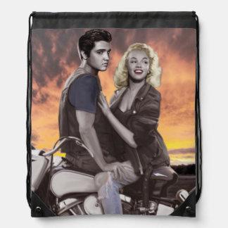 Sunset Ride Drawstring Bag