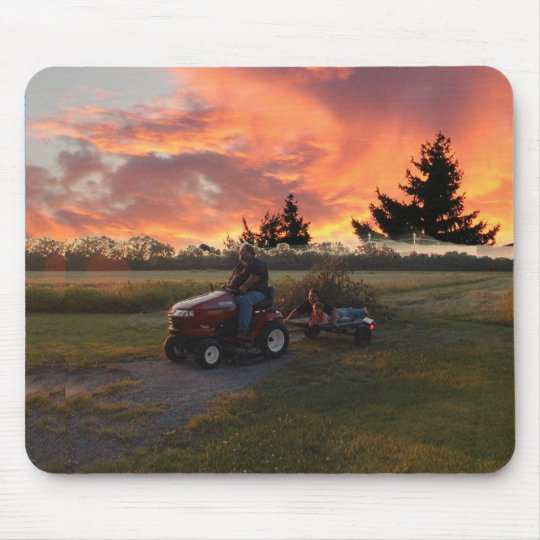 sunset ride mouse mat