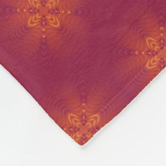 Sunset ripples design for fleece blanket