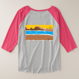 Sunset river plus size raglan T-Shirt