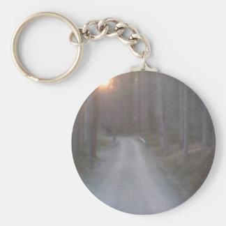 Sunset Road Basic Round Button Keychain