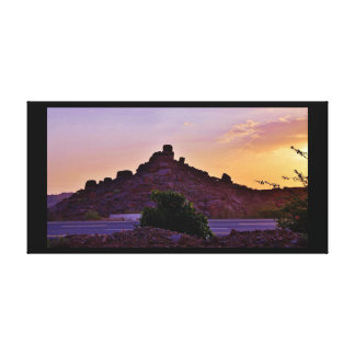 Sunset Rock Formations Canvas Print