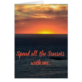 Sunset Romance Card