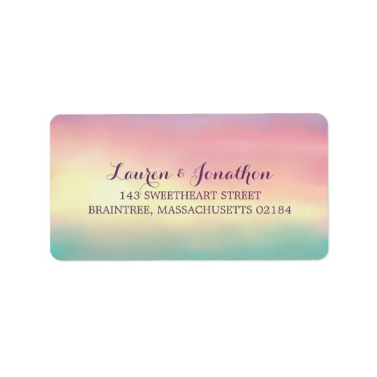 Sunset Romance | Mailing Address Address Label